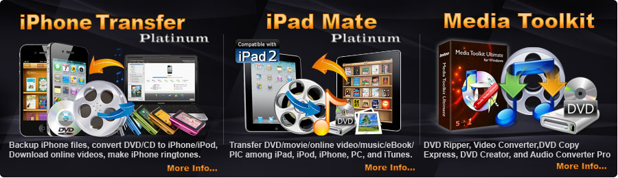 ImTOO Software   iPhone/iPad Manager   Video e DVD Converter